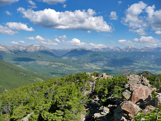 Estes Cone provides spectacular views of the Continental Divide