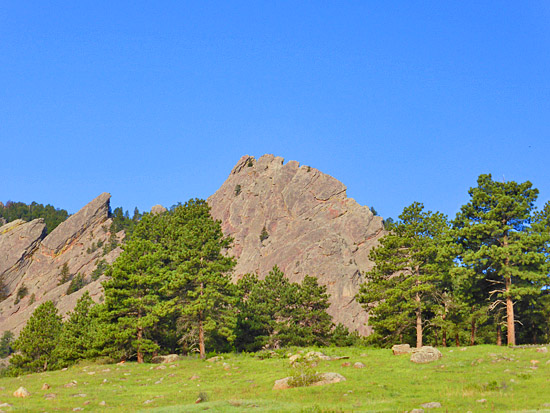 Boulder's Flatirons from the McClintock Trail