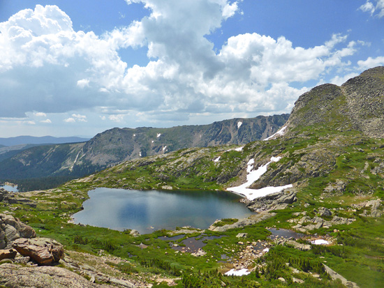 Storm Lake at the head of Jasper Creek in the Indian Peaks Wilderness