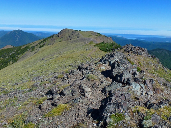 Views from the summit of Mount Townsend (6,260') extend 360 degrees